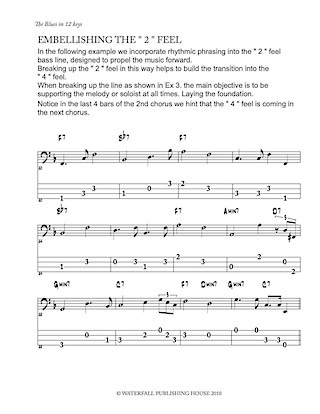 jazz bass tab basstab.net constructing walking jazz bass lines the blues in 12 keys bass tab edition ex 1